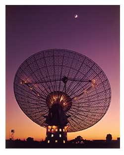 A radio telescope.