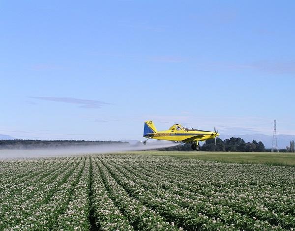 Crop dusting plane