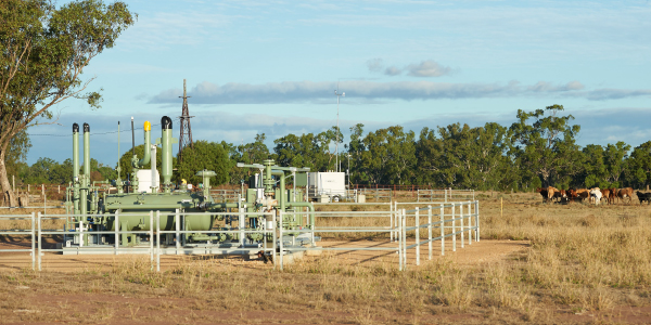 Gas well in rural paddock.