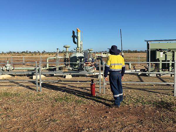 Coal Seam Gas well in Queensland