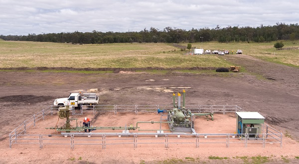 Gas well at Reedy Creek