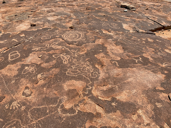walkovers and rock carvings