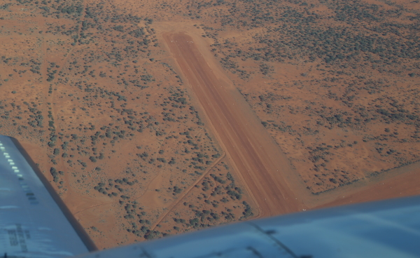 Aerial view of the Boolardy airstrip.