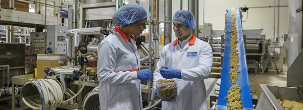Making food in industry