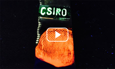 Glowing fingerprint with video play button