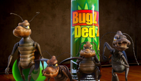 animated bugs and a can of bug spray