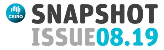 csiro logo and title: Snapshot issue 08.19