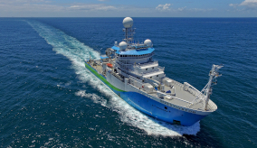Research Vessel Investigator sailing on the water