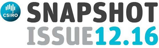 CSIRO Snapshot, issue 12.16