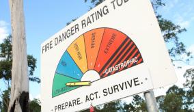 fire danger rating sign