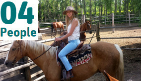 Gabriella on a horse