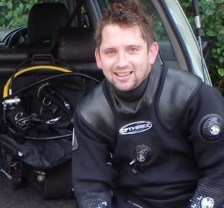Dr Daniel Smale in a wetsuit